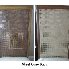 How To Replace Cane Back Chair With Fabric Computer Chairs On Sale Sheet Caning Emza S Weaving Picture