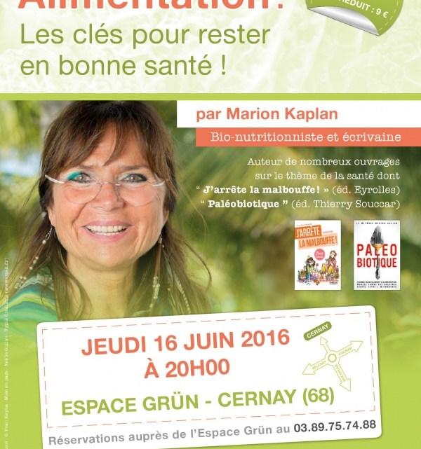 """Marion Kaplan et l'alimentation """"saine et sans"""""""