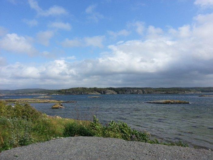 Vue depuis l'île de Malö