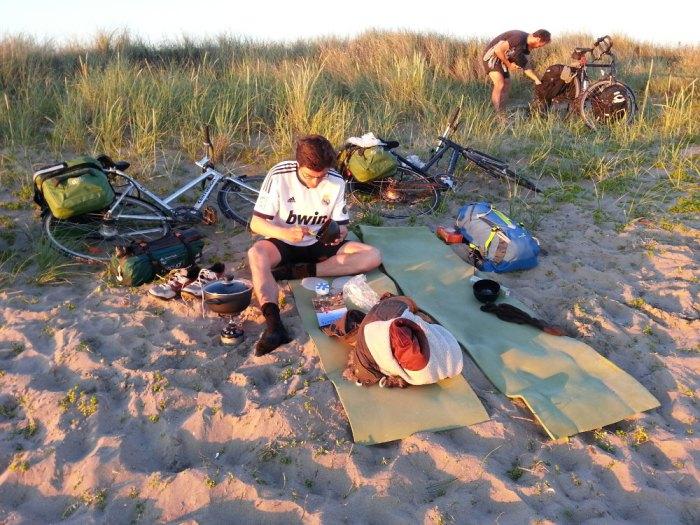 bivouac sur la plage