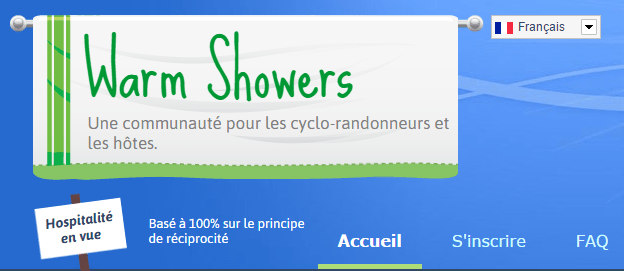 Hébergement entre cyclistes avec Warm Showers