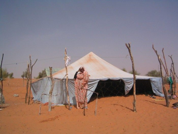 Tente de nomades en Mauritanie
