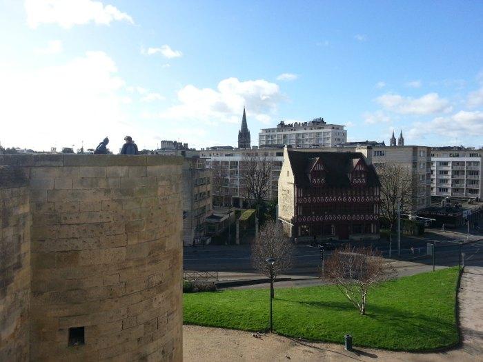 Vue du château de Caen