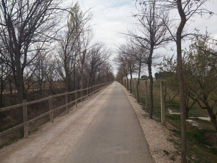 La voie verte pour sortir d'Albacete