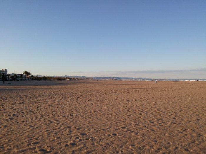 La plage de Valencia