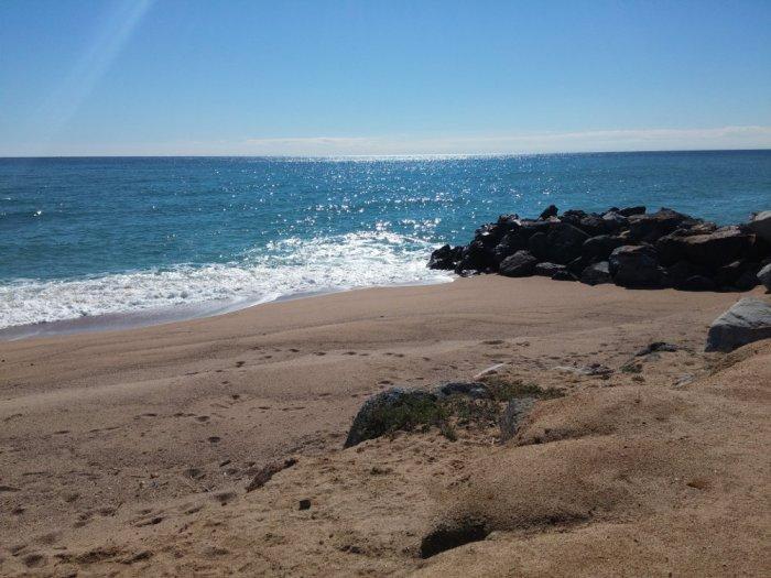La plage le matin à Malgrat de Mar