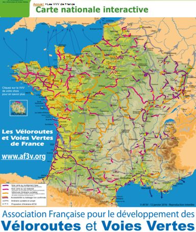 Carte nationale interactive véloroutes et voies vertes de France