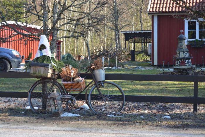 vélo suède campagne