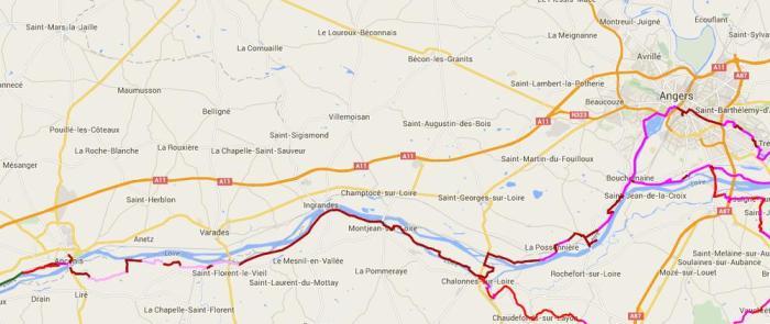 La Loire à Vélo Angers Ancenis