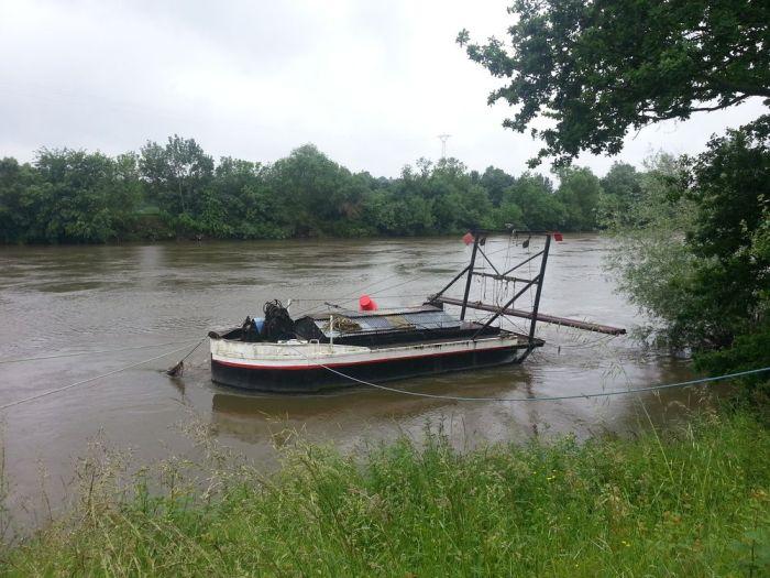 Un bateau sur la Loire à Chalonnes