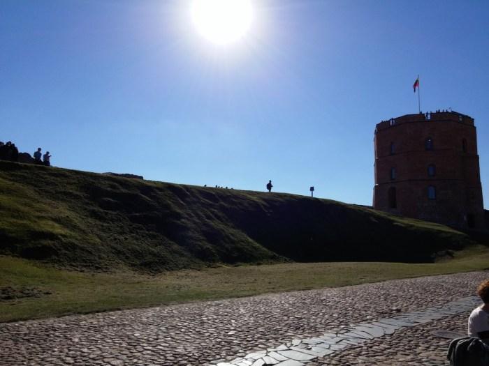 Dans l'enceinte du château de Vilnius