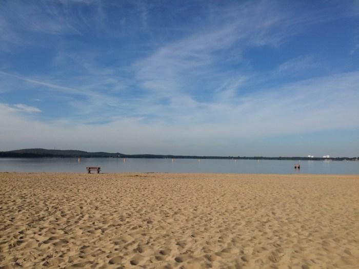Pause au bord d'un lac