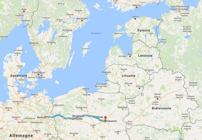 Itineraire Berlin-Varsovie à vélo