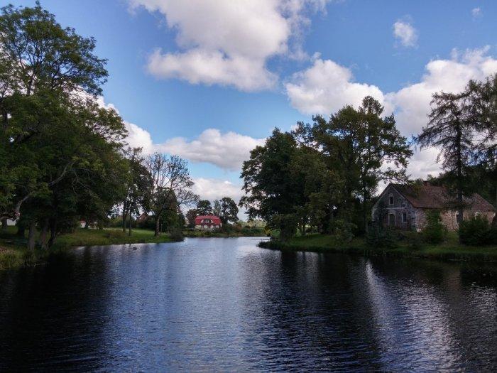 paysage de l'eurovelo 13 en lettonie
