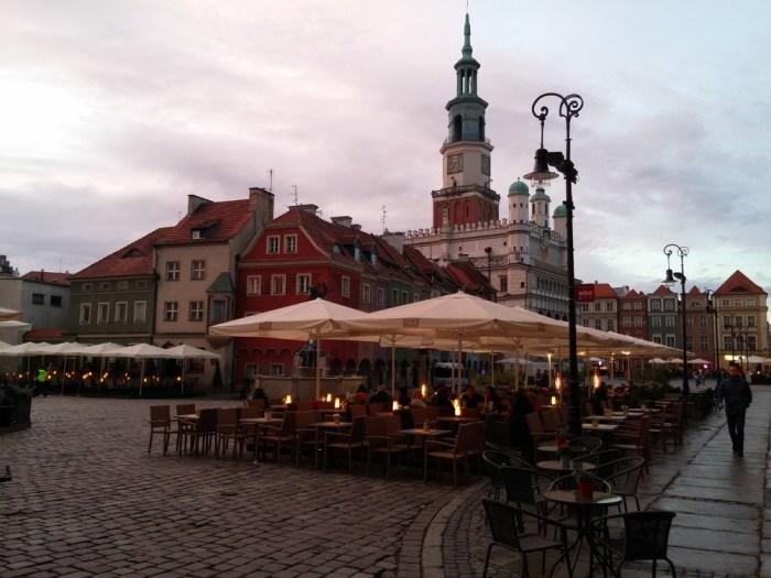 La place centrale de Poznan