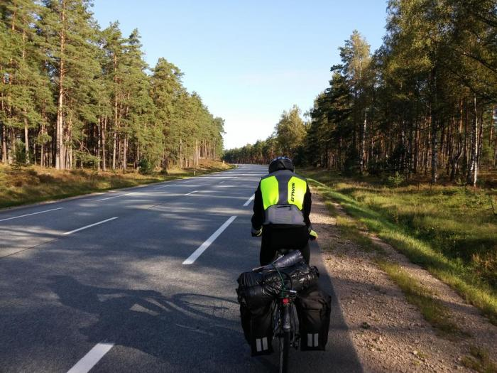 Sur l'eurovelo 13 en Lettonie