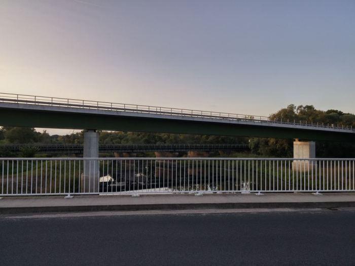 Route avant la frontière polonaise, vélo en Allemagne