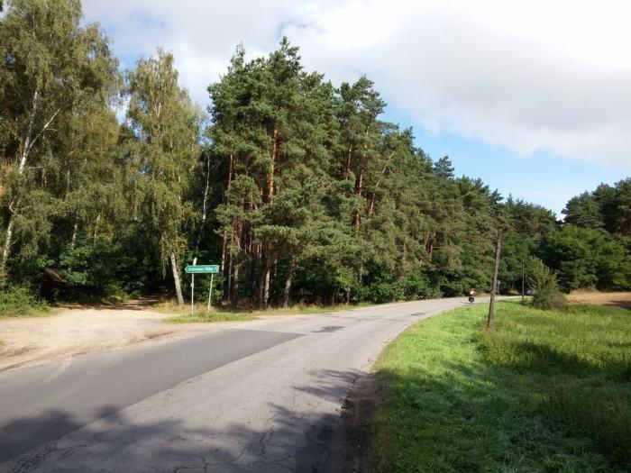 Route de campagne en Pologne