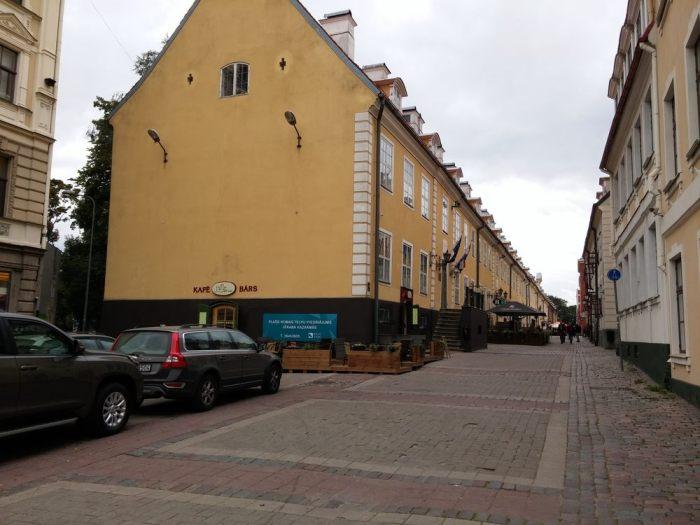 Route pavée à Riga