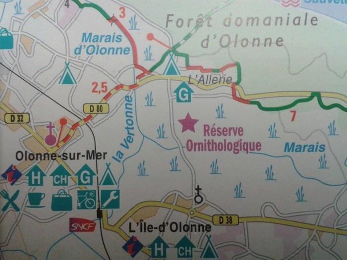 detail carte topo guide atlantique a velo