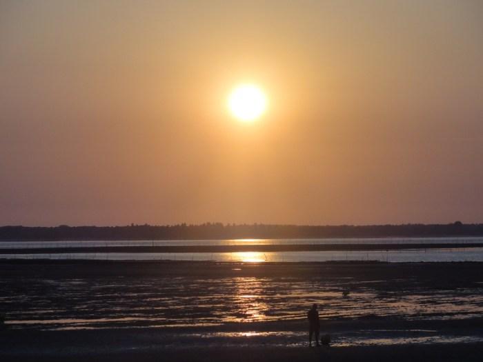 Coucher de soleil sur la Vélodyssée