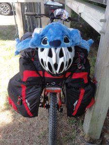 Arrière de vélo de voyage