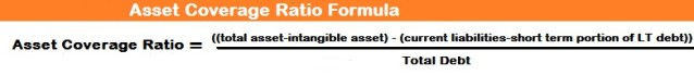 Asset Coverage Ratio Formula