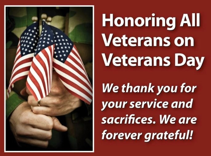 Happy Veterans Day 2020 Message