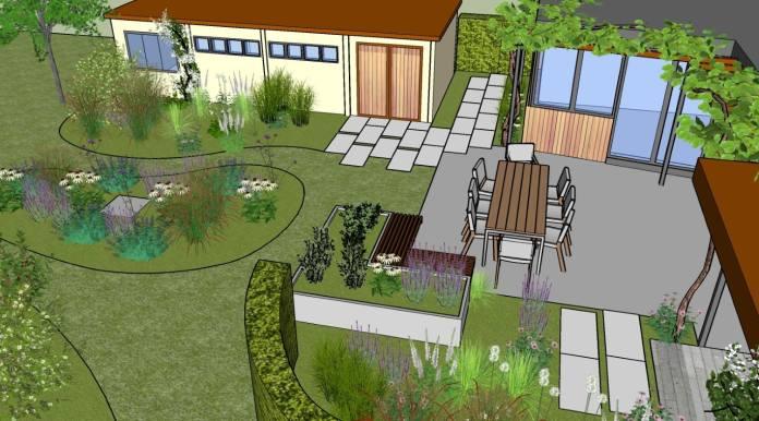 stapstenen aan het tuinhuis