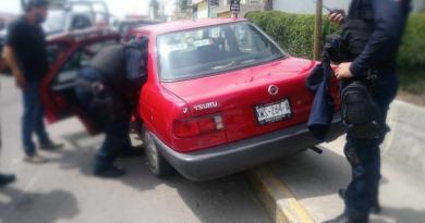 Detiene Policía de San Andrés Cholula a sospechoso de robo de vehículo