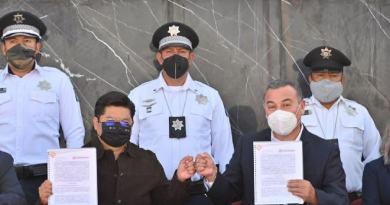 Firman convenio Coronango y Secretaría de Seguridad Pública