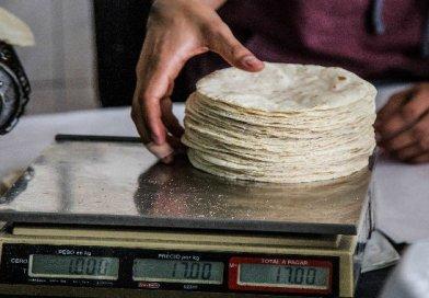 Aumenta el precio de la tortilla en Puebla