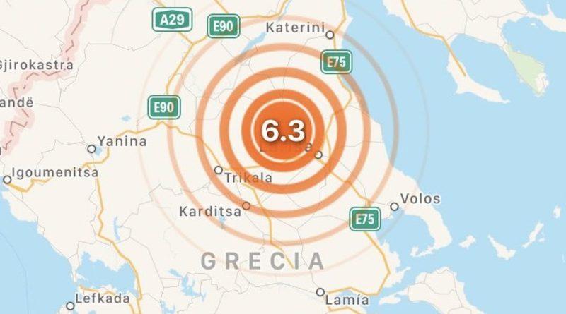 Sismo de mangitud 6.3 sacude a Grecia