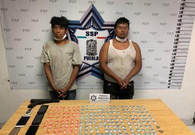 Captura Policía Estatal a dos presuntos narcomenudistas