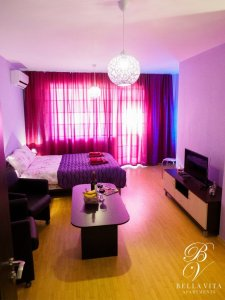 Cozy Furnished Apartment for Rent in Blagoevgrad Bulgaria with Air Conditioner and HD TV