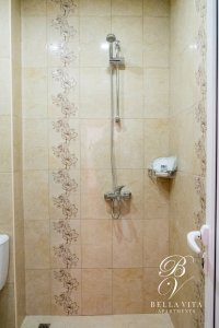Luxury Bathroom in Furnished Studio Apartment for Rent by Owner Visit Blagoevgrad Bulgaria