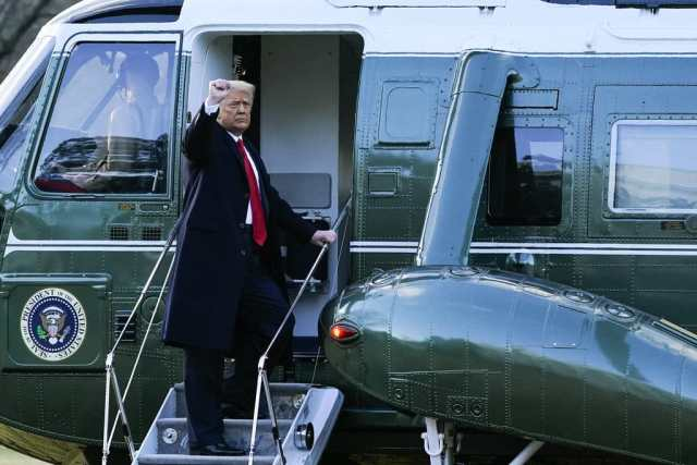 Trump leaves the White House before Joe Biden's inauguration and promises to return at the head of the US  in 2024