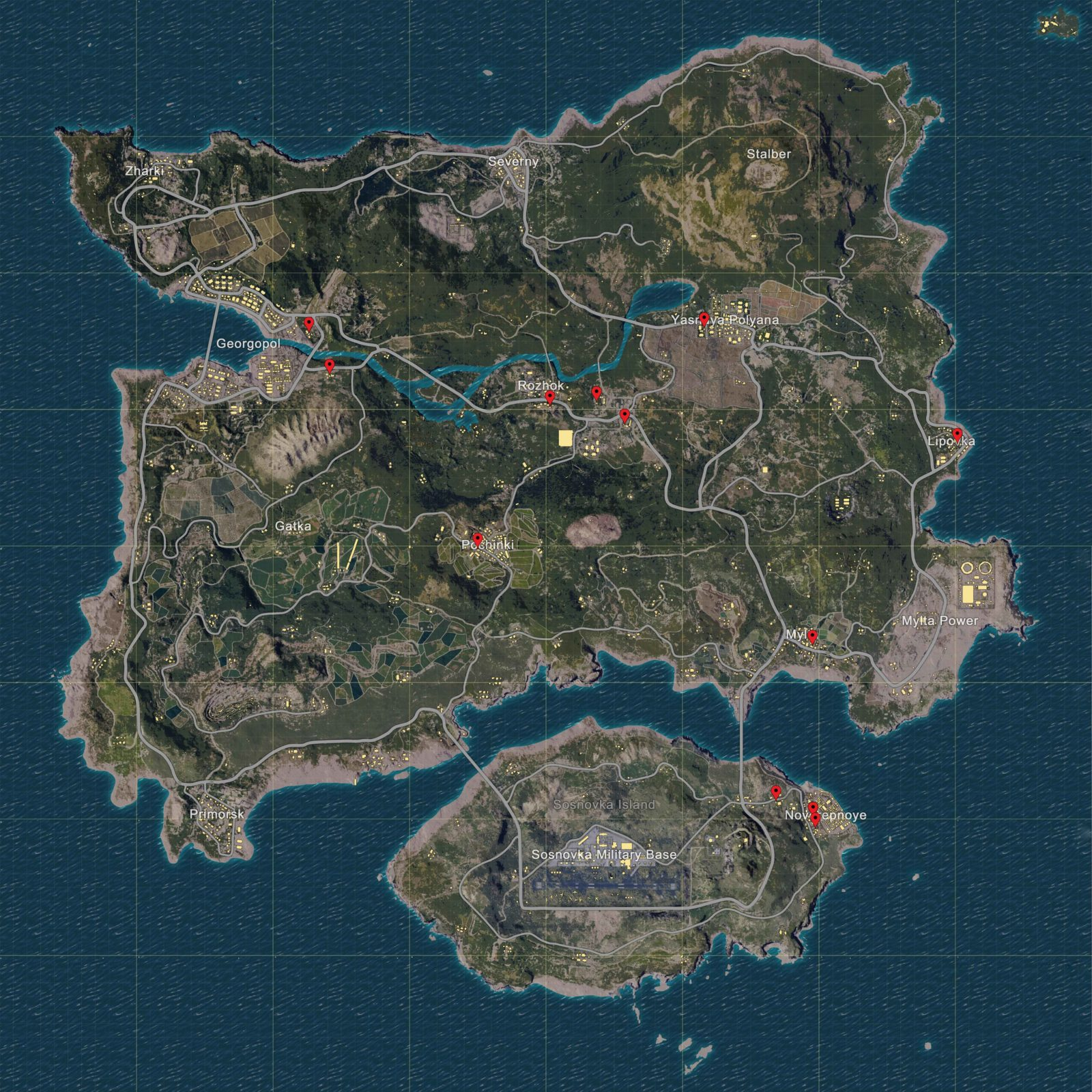 PLAYERUNKNOWNS BATTLEGROUNDS Map Of All Garages With Car