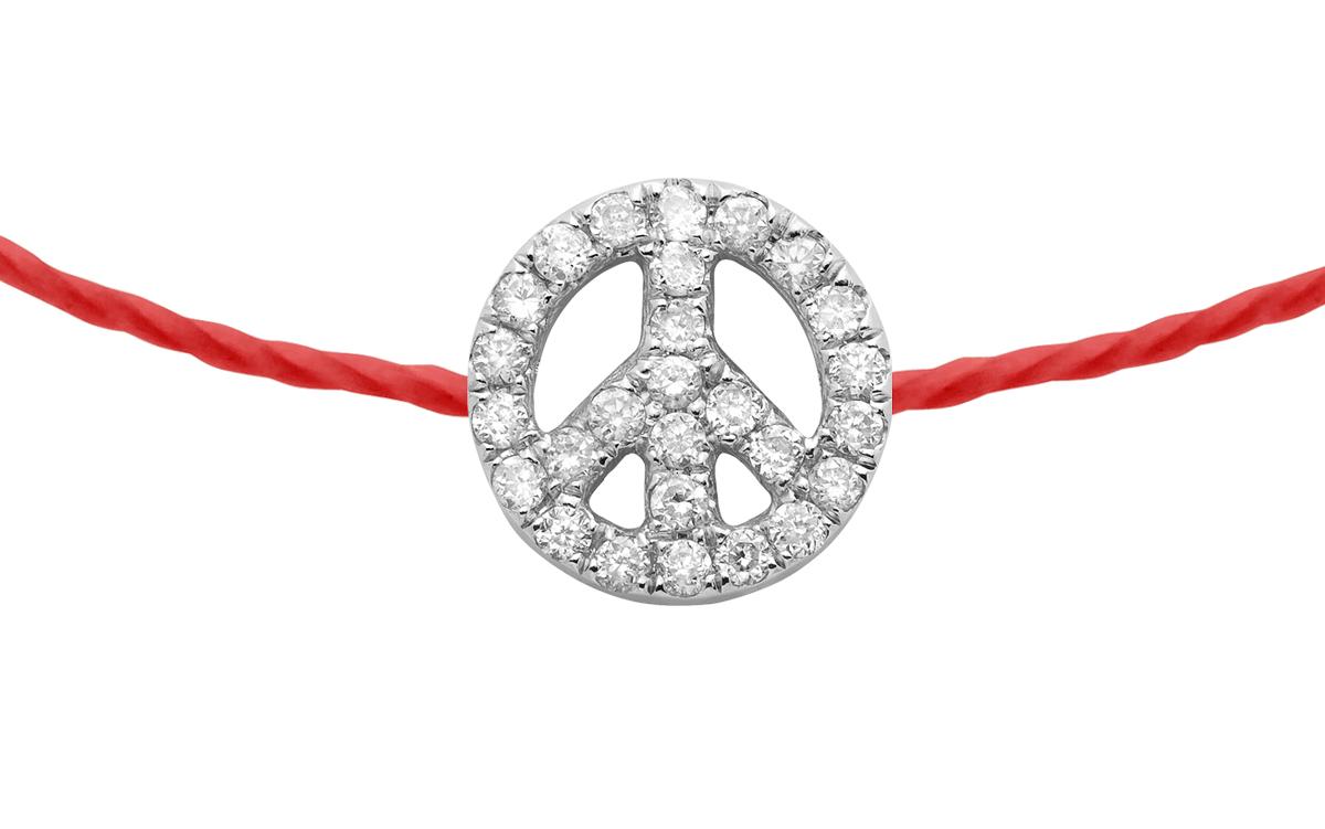 RedLine Jewelry MINI PEACE PAVÉ BB BRACELET White Gold