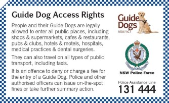 NSW Police Guide Dogs NSWACT