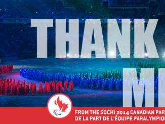 Thank You from Canadian Paralympic Team in Sochi