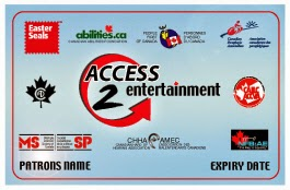 Photo of the Easter Seal's Access 2 Entertainment Card