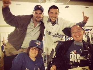 Torrance and friends at Blue Jays playoffs game