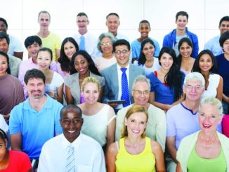 Photo of a group of people with smiling faces