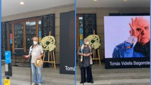 Hctor Noguera, Anita Reeves and other actors and actresses said a big farewell to TomsVidiella.