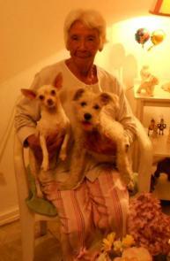 perros con Doña Rosita