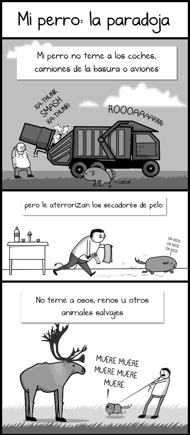 cómic de perro