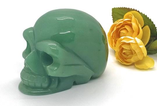 Large Green Aventurine Skull