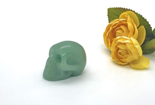 SMall Green Aventurine Skull