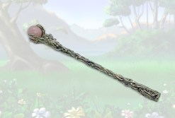 Faery Dance Wand with Rose Quartz Sphere